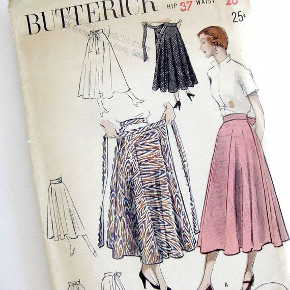 1950s Vintage Sewing Pattern Swirling by SelvedgeShop on Etsy ...