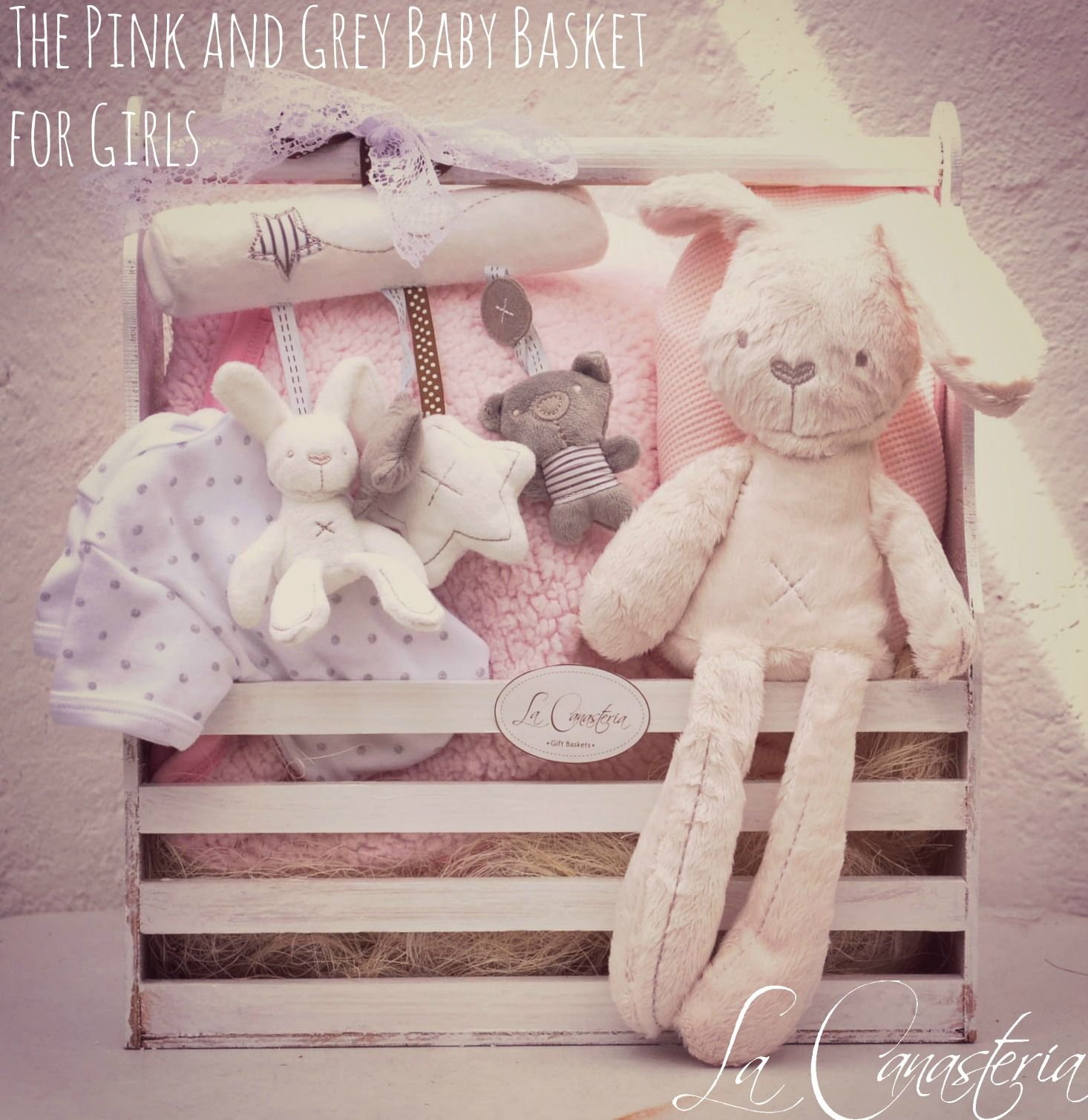 The pink grey baby basket for girls canastilla - Ideas originales para bebes ...