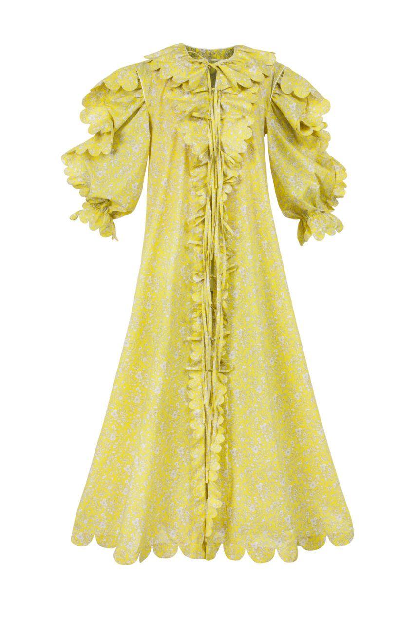 Tutia openfront scalloped maxi dress horror vacui clothes