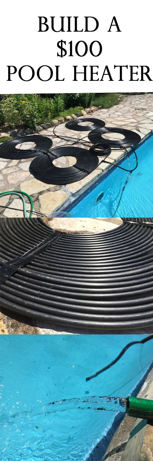 How to build a pool heater for under 100. It Really Works