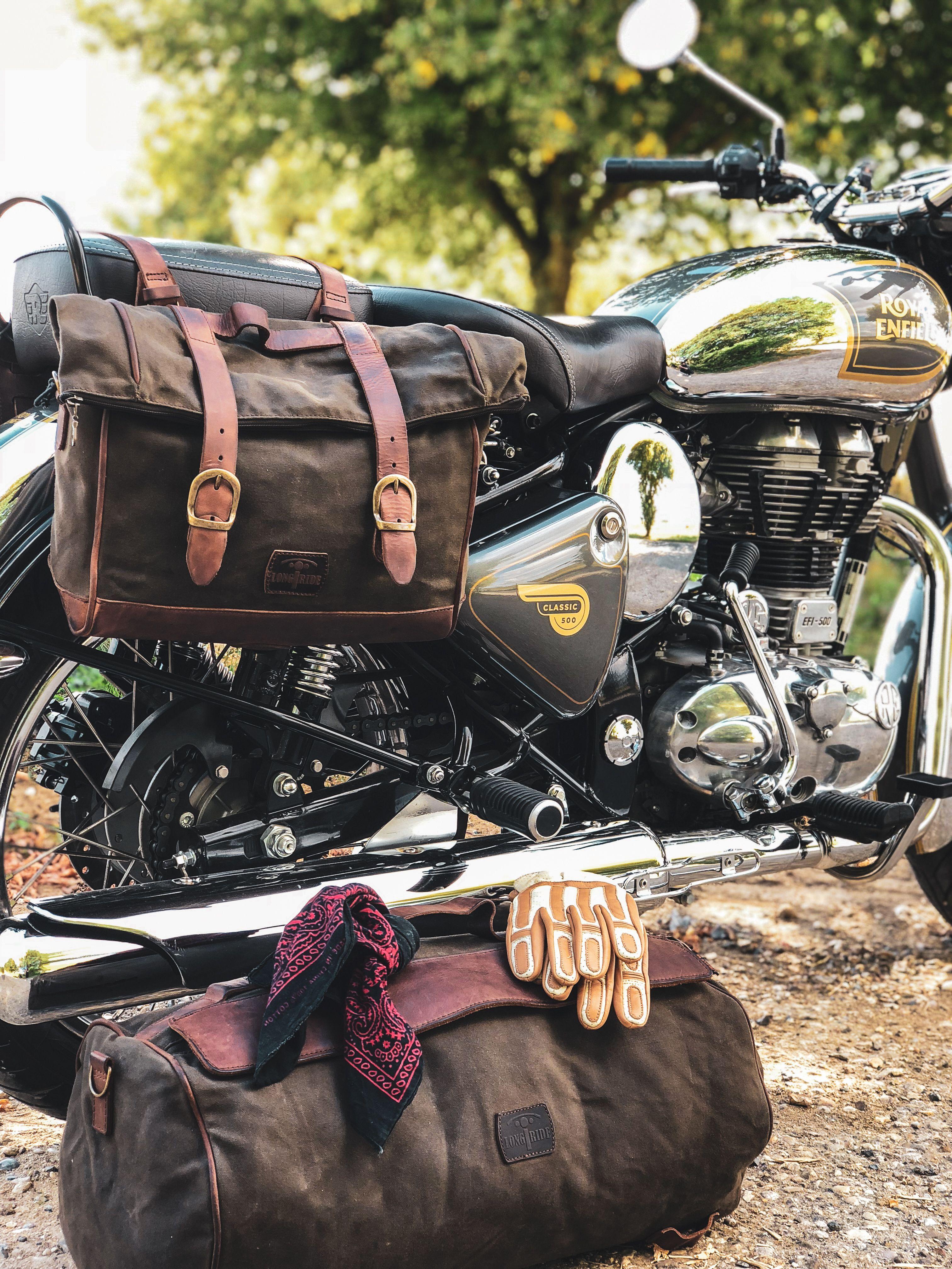 Brown Racer Saddlebag Motos Cuero