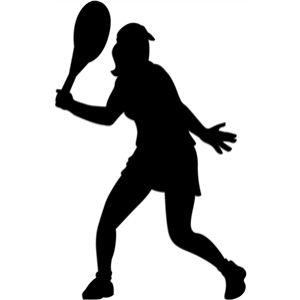 Tennis Forehand Girl Sagome Sport Atletica
