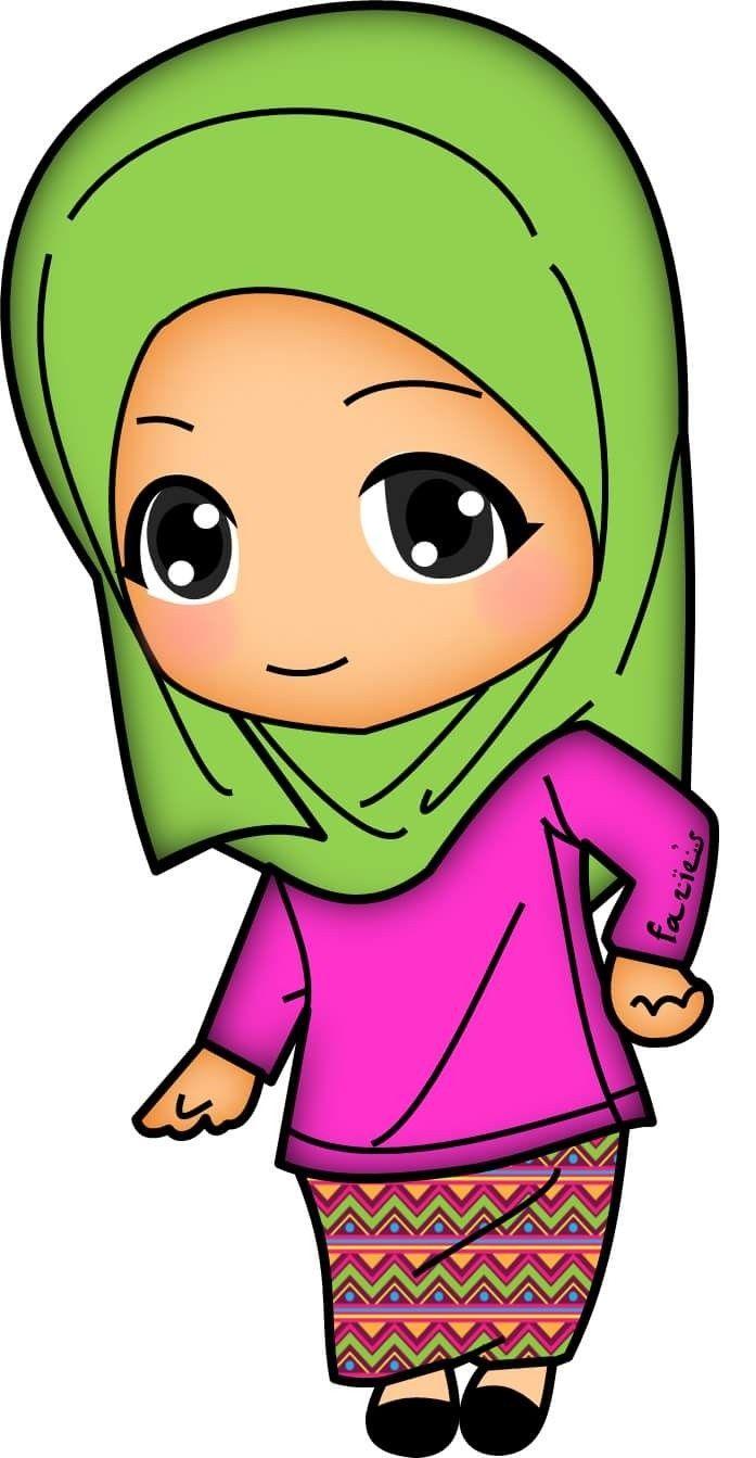 Pin By Izzah Boahari On D00dle Muslimah Islamic Cartoon Muslim Kids Kids Doodles