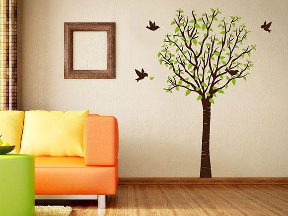 Der Stilvolle Wandtattoo Baum Ist Ein Wand Deko Highlight Der Besonderen  Art. Mit Dem Zweifarbigen