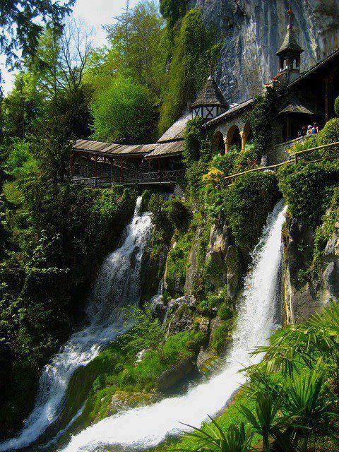 Waterfall Walkway in Thailand.