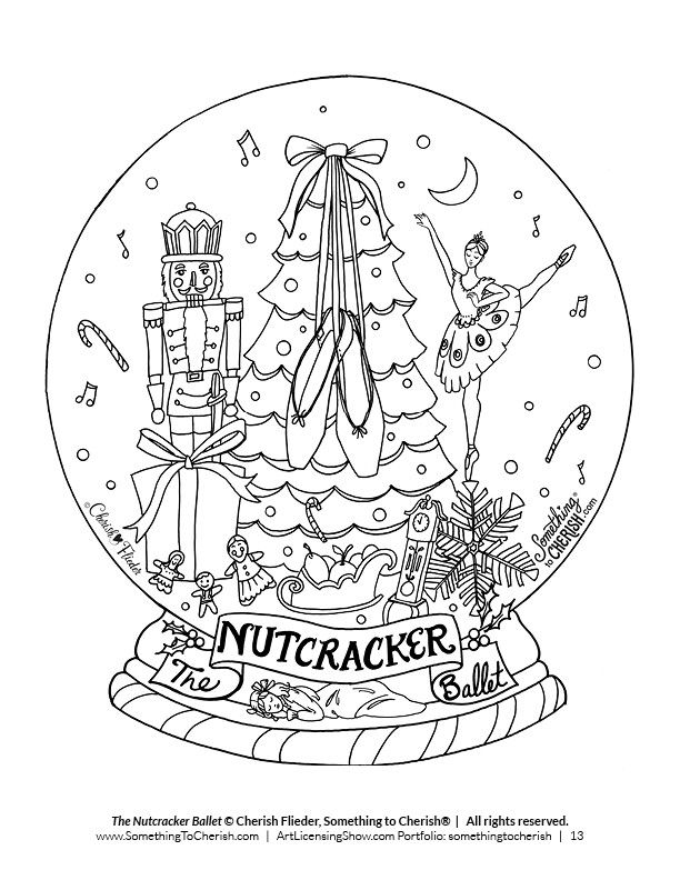 Free 92 Page Holiday Coloring Book | Dance coloring pages ...