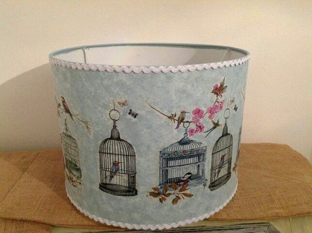 Decoupage lampshade with napkins