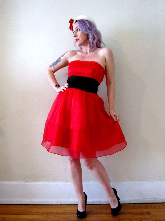 ON SALE // vintage cherry red Betsey Johnson dress by detroitdolly ...