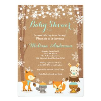 image regarding Free Printable Woodland Baby Shower Invitations named Cost-free Printable Woodland Child Shower Invites. Boy or girl Shower