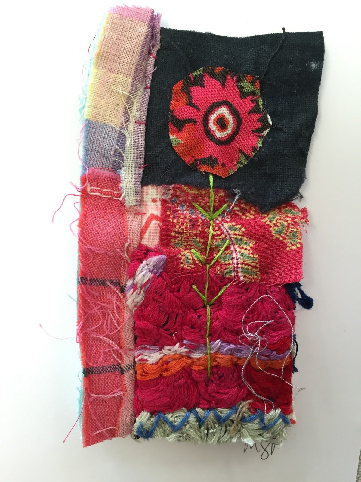 Thread and Thrift: Card Collages
