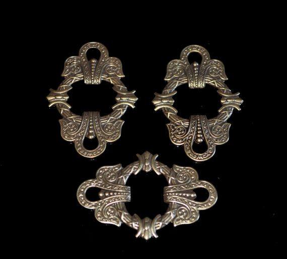 3 Celtic Brass Filigrees by themetalworx on Etsy, $2.25