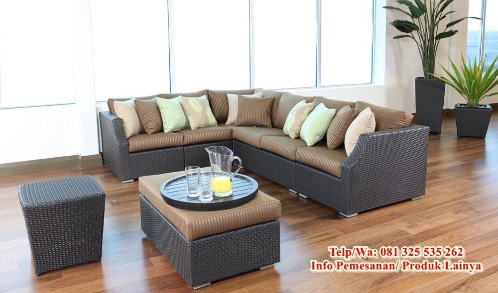 Desain Sofa Sudut Rotan Modern Paling Populer Ahli Desain Sofa