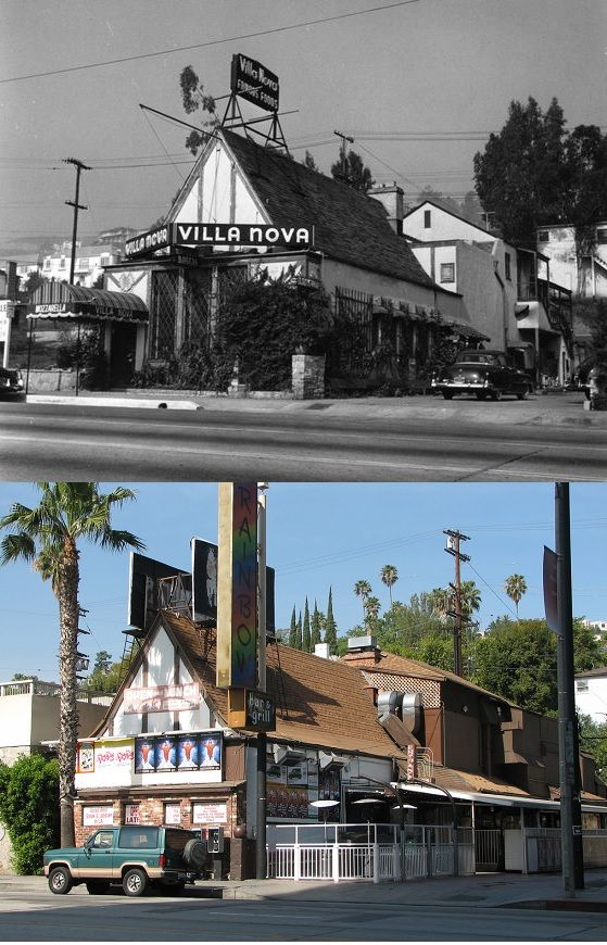 Then Now 9015 Sunset Boulevard The Villa Nova In 1938 Where