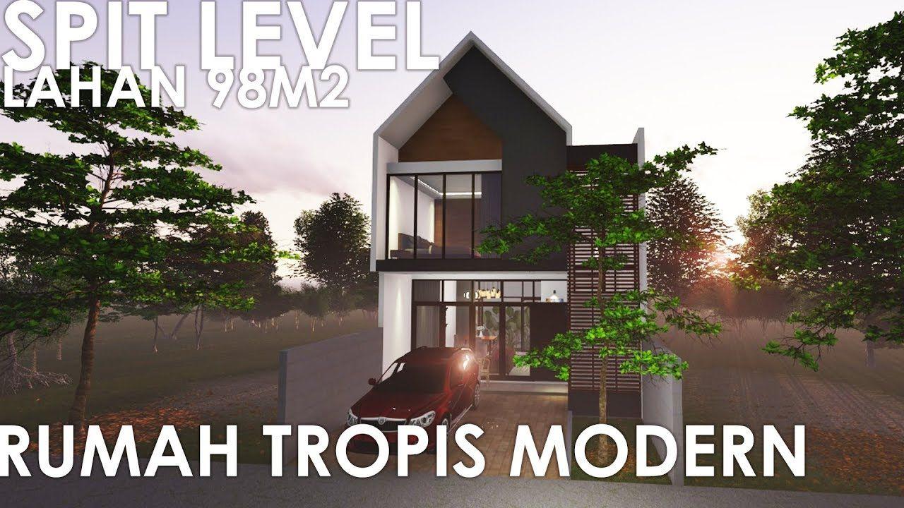 House Plan Split Level 7x14 Rumah Tropis Rumah Modern