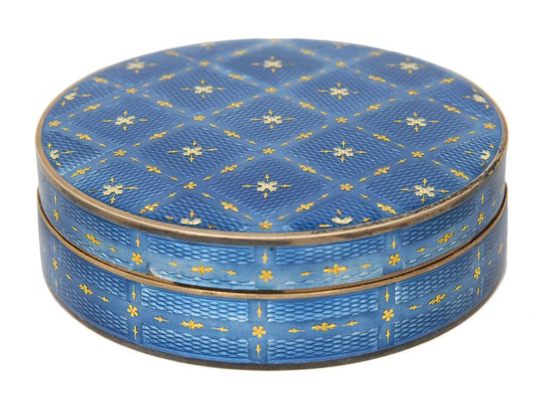"""A box with forget-me-not-blue translucent enamel 