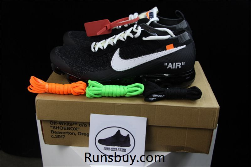 info for 08d23 e5e81 Nike Air VaporMax 2018 OW Flyknit Black WHITE x Nike O