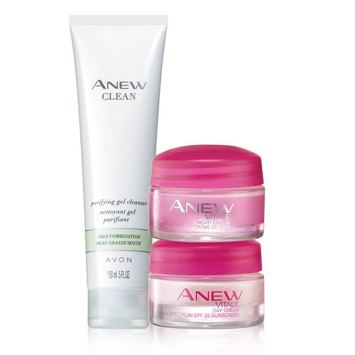 Valued at $34.00, the set includes:  Anew Clean Purifying Gel CleanserThis purifying gel cleanser cleanses skin of dirt, oil and impurities, helps reinforce skin's protective moisture barrier to keep skin feeling resilient, and preps skin to receive the optimal results for Anew moisturizers and treatments. 5 fl. oz.BENEFITS • Effectively cleanses skin of makeup, dirt, oil and impurities• Makes skin look and feel revitalized, rejuvenated and dramatically cleaner*• Clini