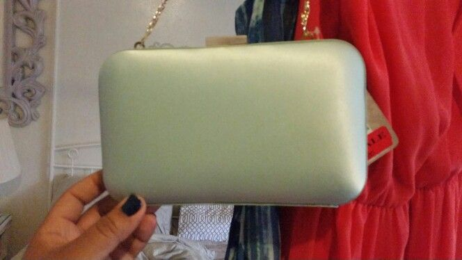 Accesorize. Mint clutch. For my Coral maxi dress.
