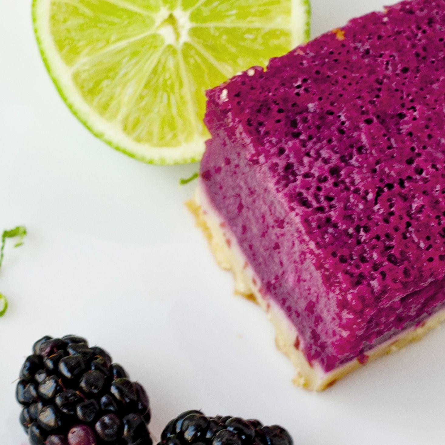 blackberry lime bars