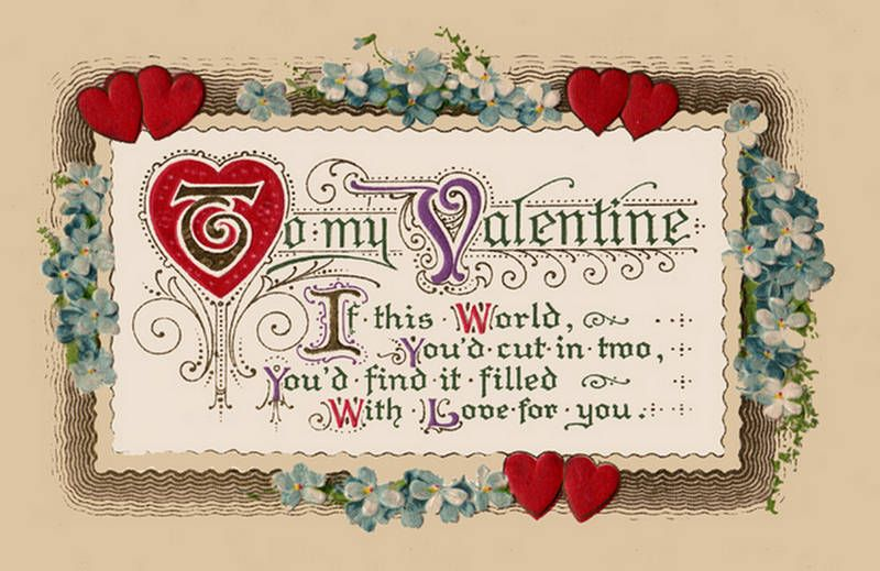 valentine poem | luv u today & forever | pinterest | poem, vintage, Ideas