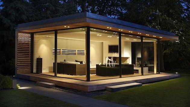 Indoor Entertainment Area Contemporary Garden Rooms Garden Cabins Backyard Studio