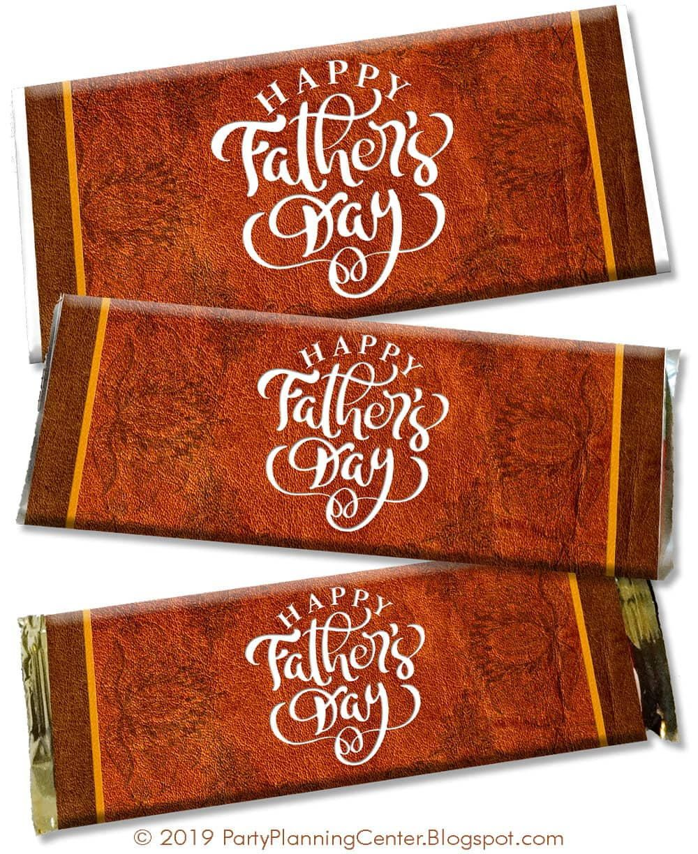 Father's Day DIY Chocolate Bar Wrappers (With Images