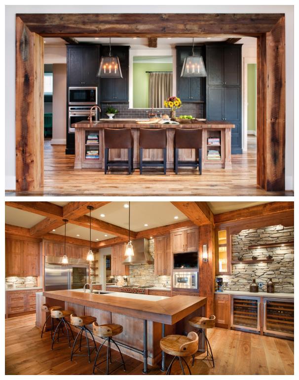 Id es de d co pour une cuisine de style moderne rustique - Renover une cuisine rustique en moderne ...