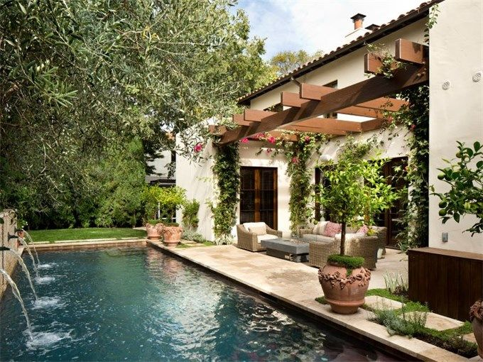 extraordinary property of the day contemporary spanish revival in palo alto california. Black Bedroom Furniture Sets. Home Design Ideas