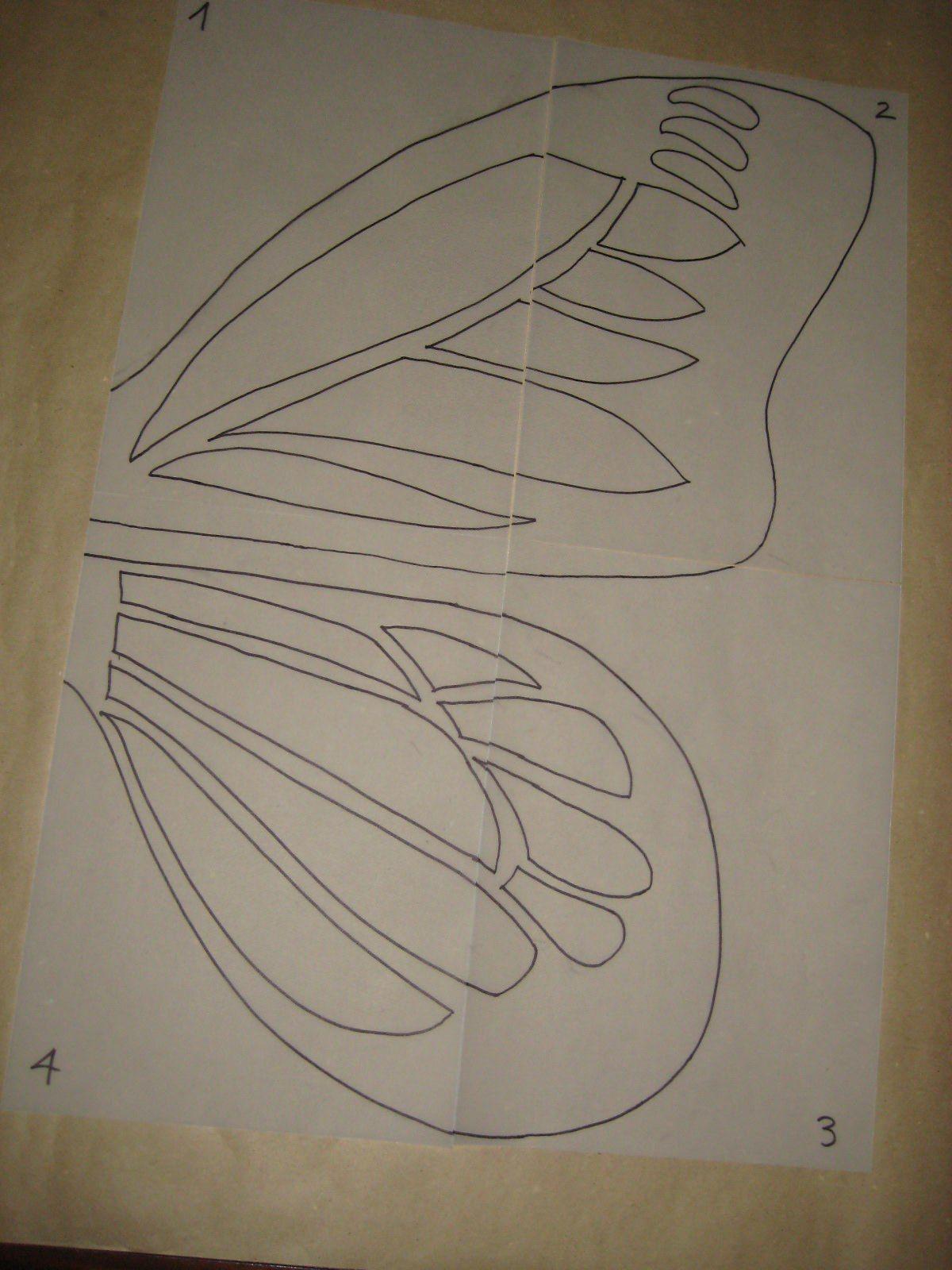 Instrucciones detalladas para hacer un disfraz de mariposa - Plantillas de mariposas ...