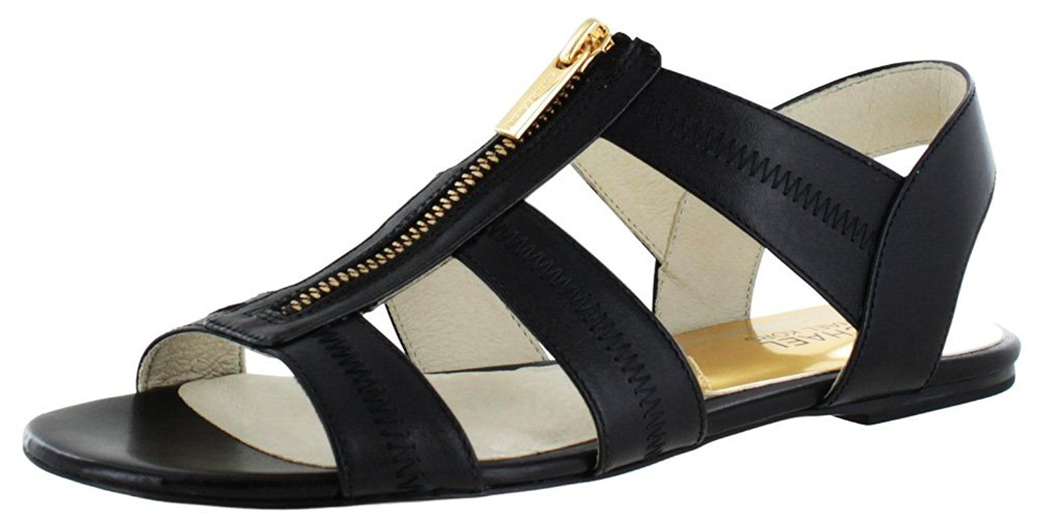 dc9e3cebc349 Michael Kors Women s Berkley Flat Leather Sandals     See this awesome  image   Gladiator
