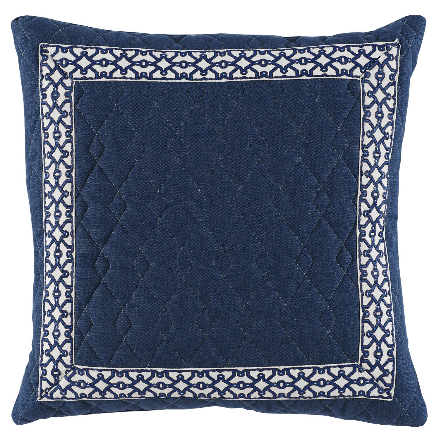 22X22 Pillow Insert Awesome D896 Lacefield Quilted Denim Linen 22X22 Pillow With Navy Florence Design Inspiration