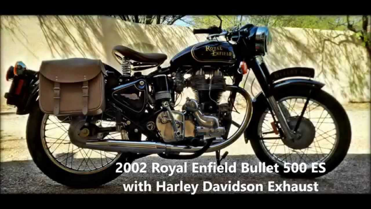 2002 Royal Enfield Bullet 500 With Harley Davidson Exhaust Please Plug In Your Earphones And Enjoy The Music Royal Enfield Royal Enfield Bullet Enfield Bullet