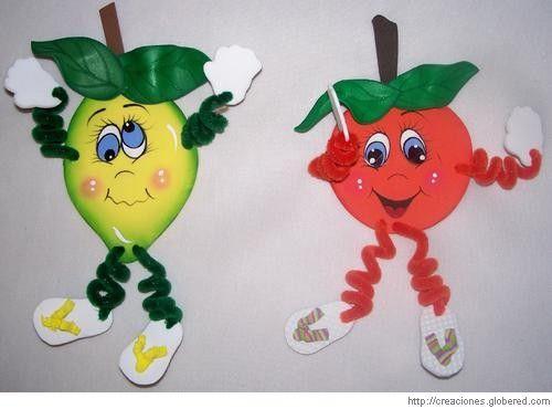 frutas en foami - Buscar con Google | recursos comedor | Pinterest ...