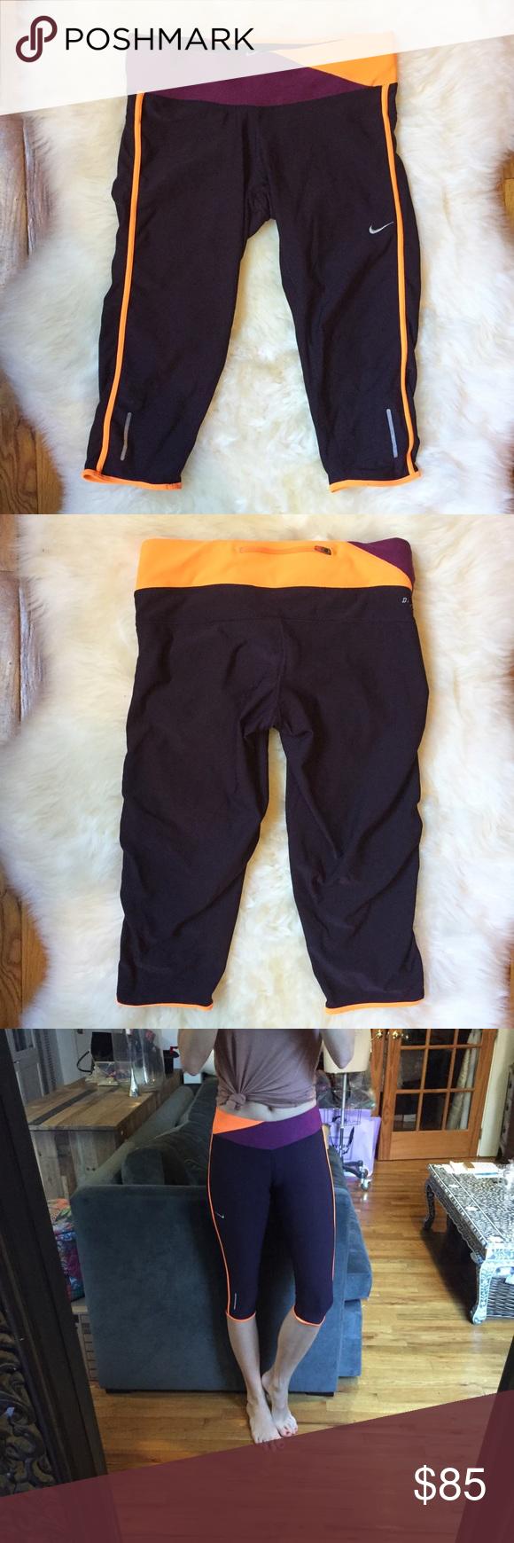 SOLD Nike Dri-Fit Purple Cropped Athletic Leggings ...