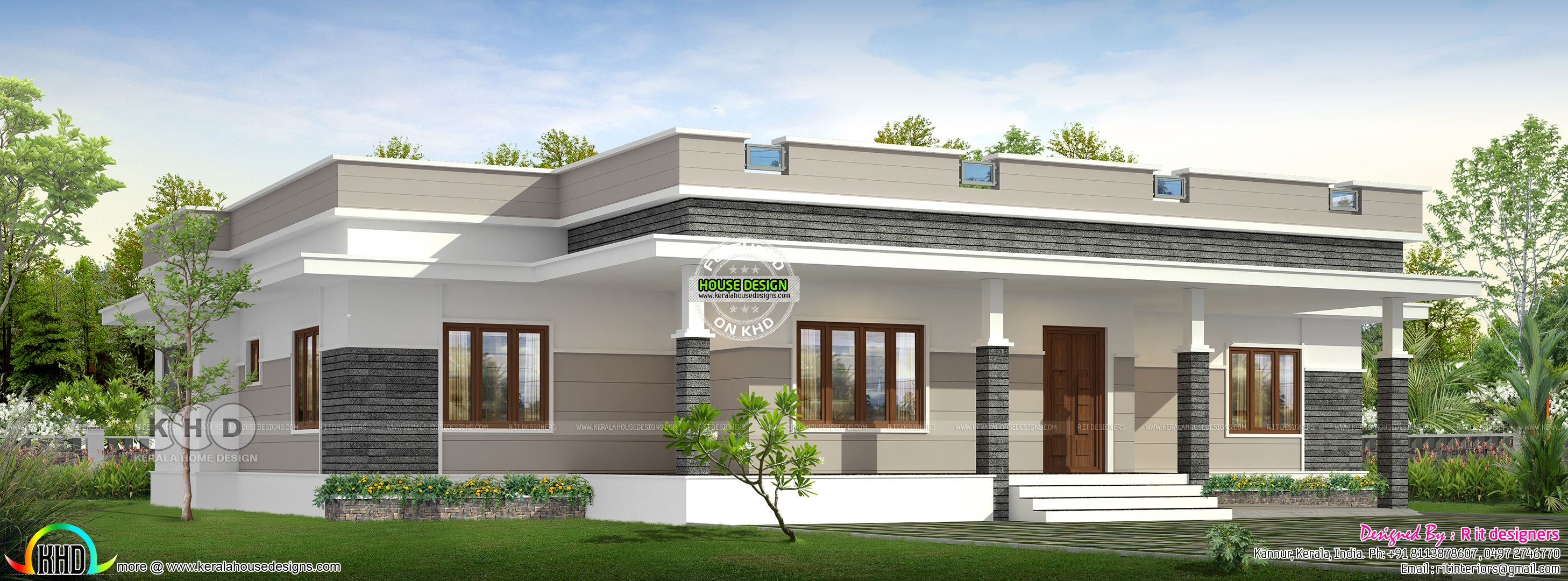 2298 Square Feet 3 Bedroom Flat Roof Home Design Kerala House Design House Design House Architecture Design
