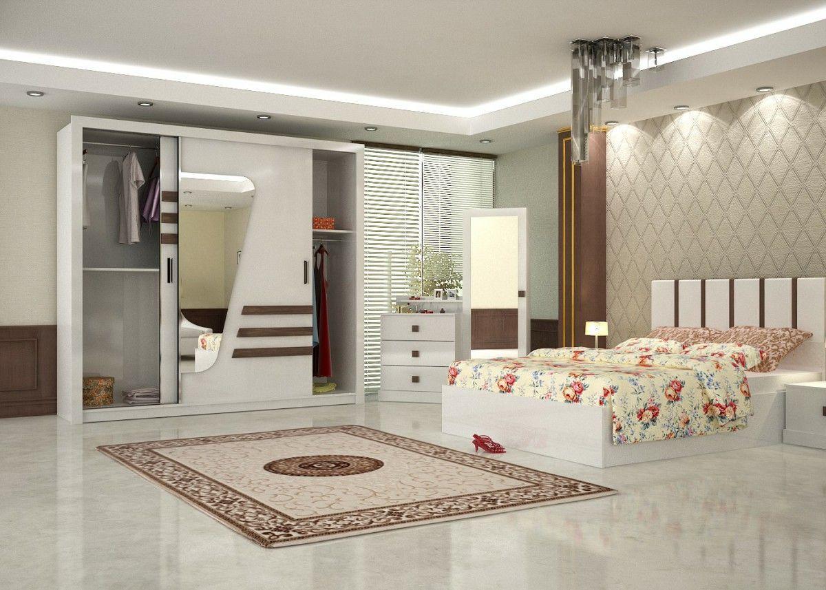 Sila Konfort Bedroom Furniture Set White 2 Turkey Warehouse