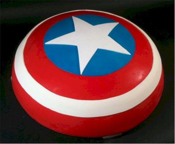 Captain America Shield / Avengers Cake via Cup a Dee Cakes Blog
