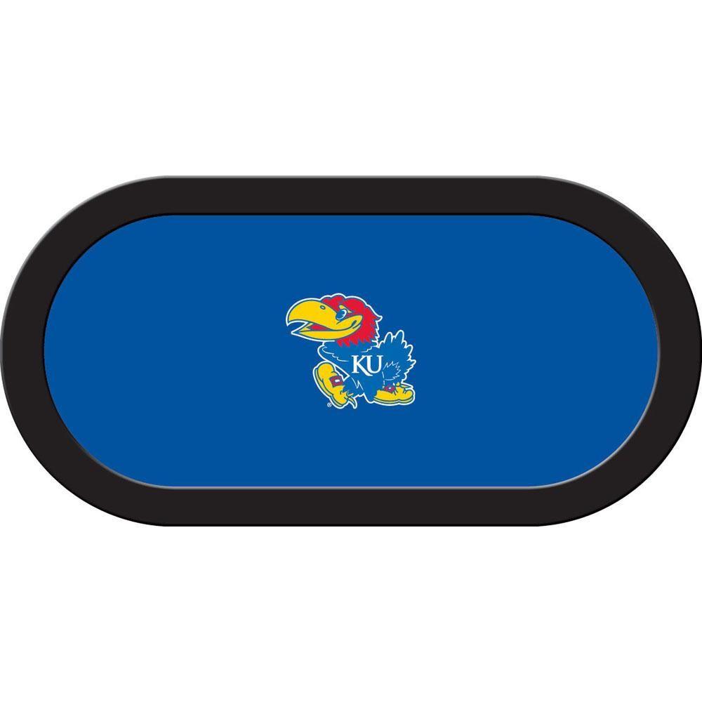Kansas Jayhawks Big Jay Blue Texas Holdu0027em Game Table Cloth
