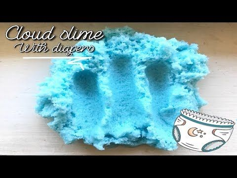 cloud slime tutorial (with diapers) youtube cool ideascloud slime tutorial (with diapers) youtube