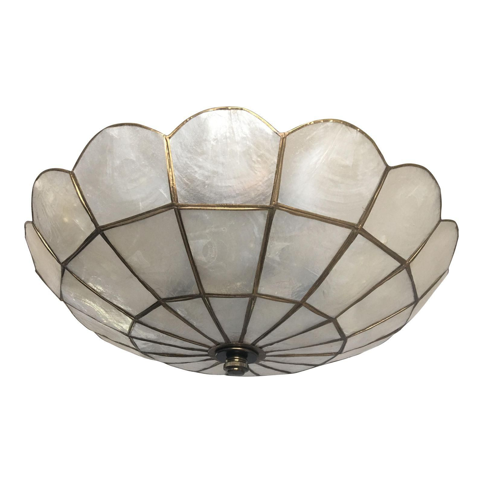 1950s Capiz Shell Ceiling Light Capiz Shell Capiz Ceiling Lights