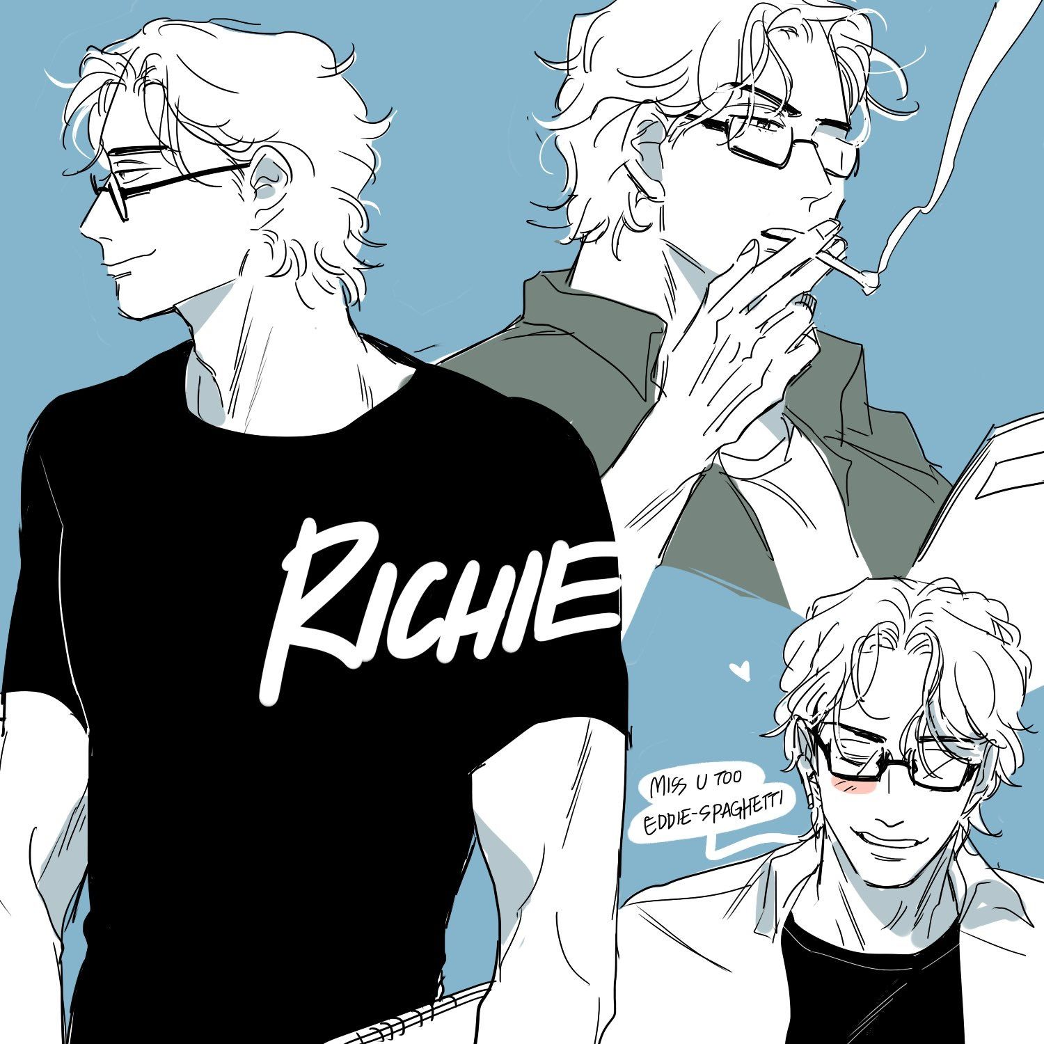 Richie Tozier IT Movie Chapter 2 Cute anime boy, It