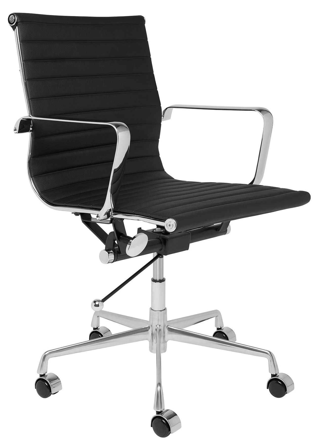 Soho Eames Style Ribbed Management Office Chair Black