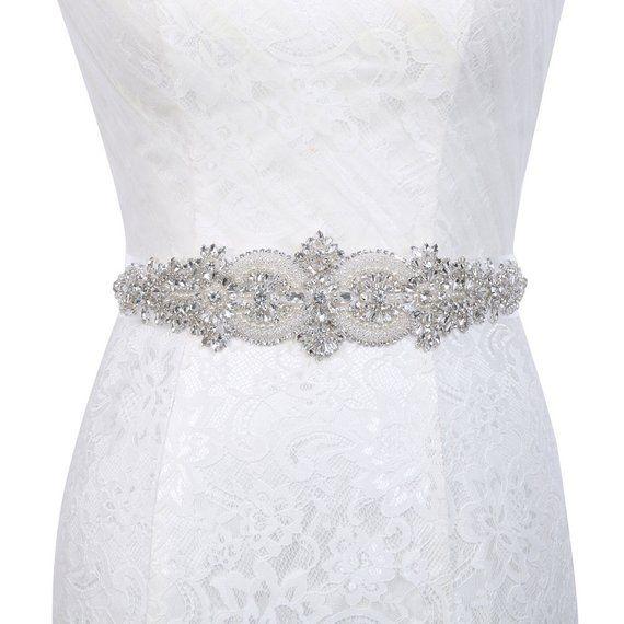 ce6c2a8e8 Sash, Sparkly Wedding Belt, Long Rhinestone Belt, Bridal Rhinestone Belt, Crystal  Sash Belt, Wedding