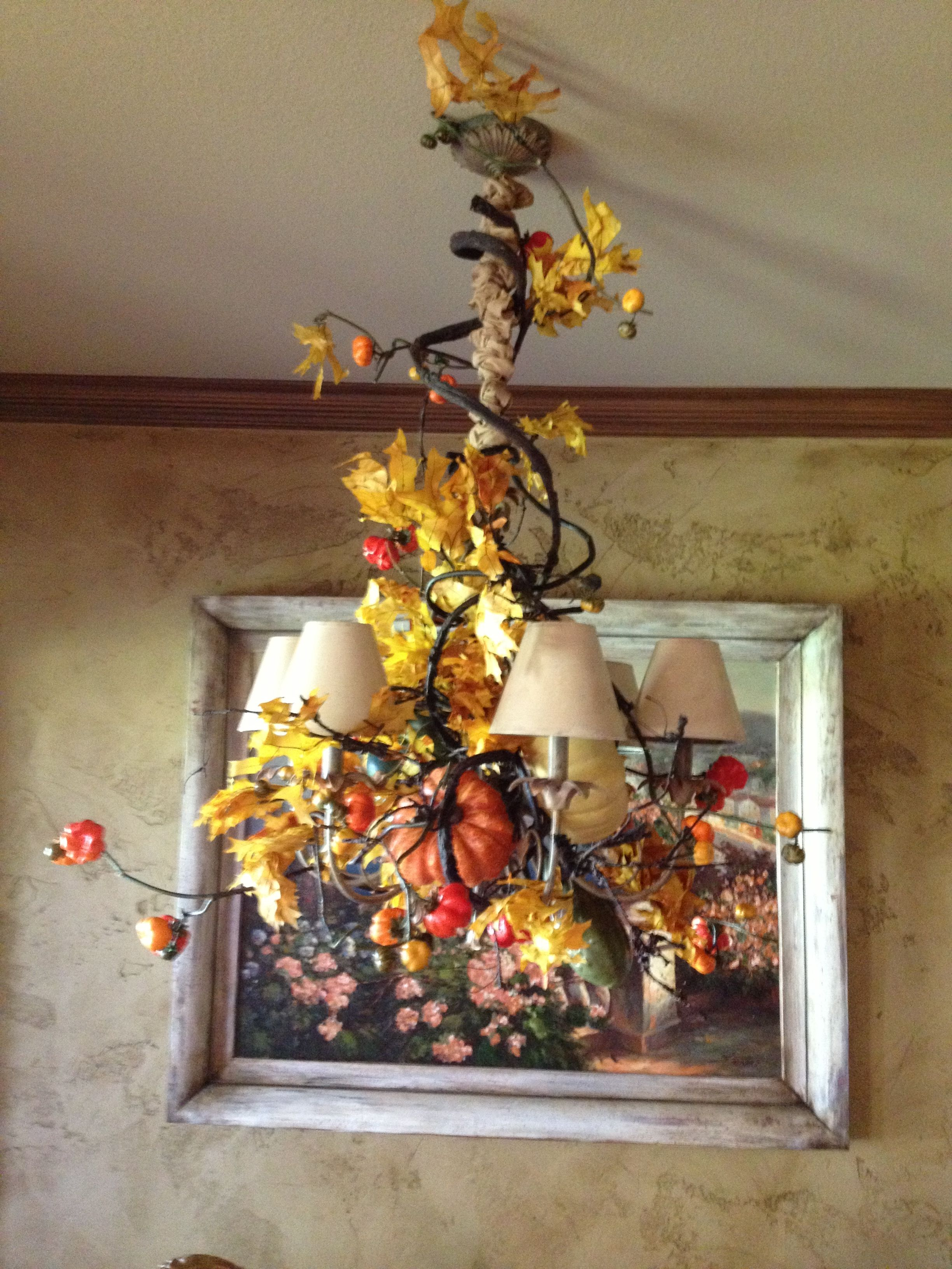 Fall Decor For Chandelier Silk Arrangements Fall Decor