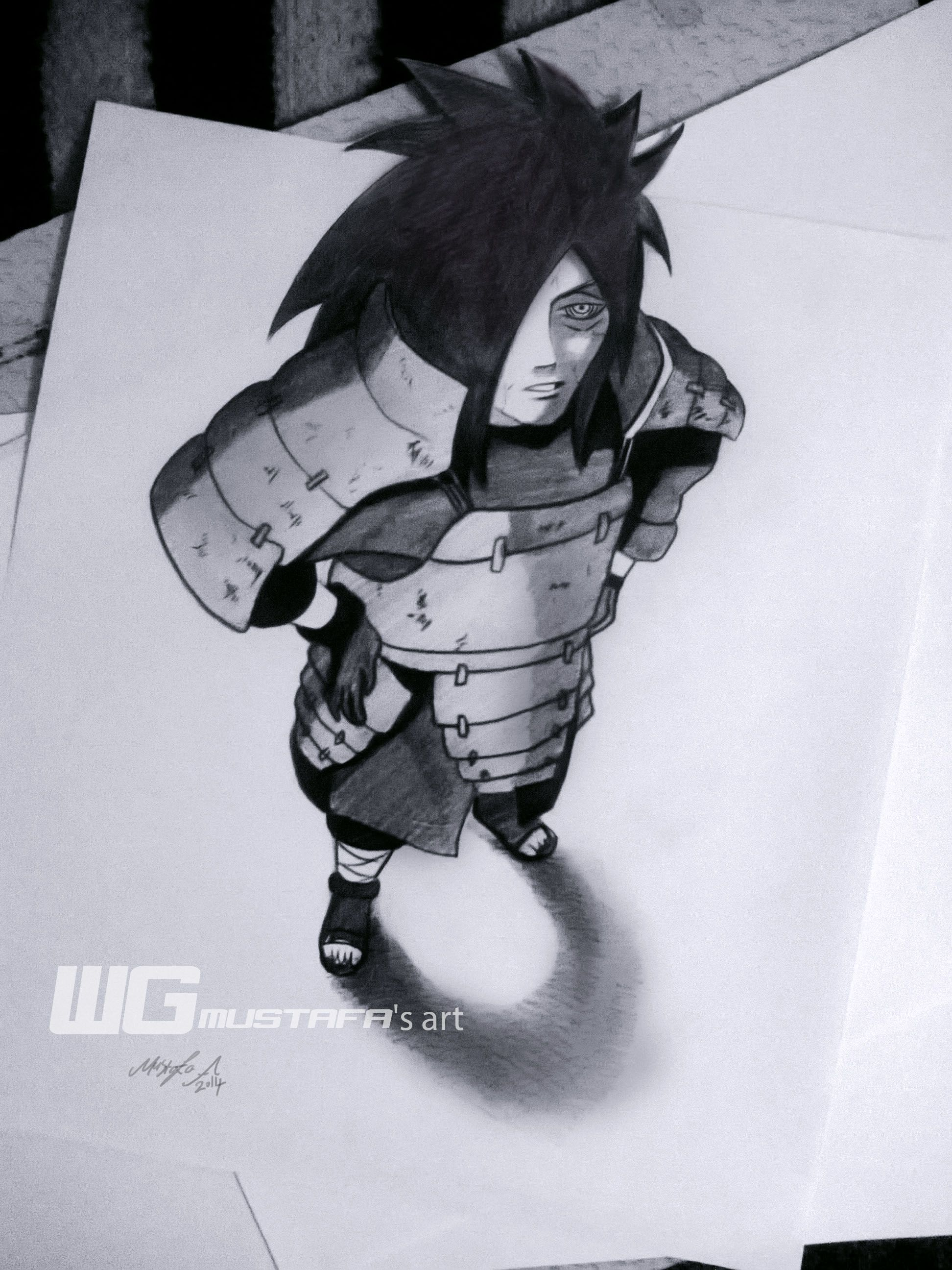 Madara uchiha naruto 3d drawing art artist