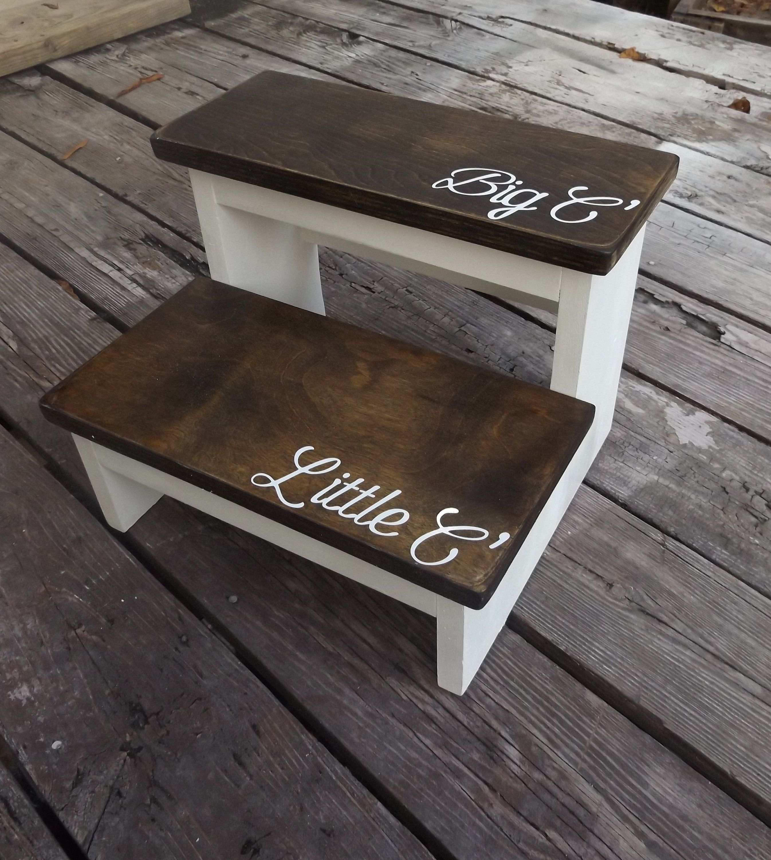 Personalized Wood Stool Kids Wooden Stool With Name On It