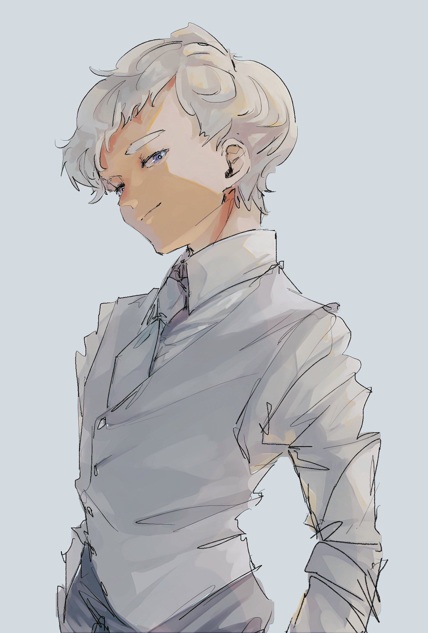 Is this Norman? Neverland art, Anime, Anime characters