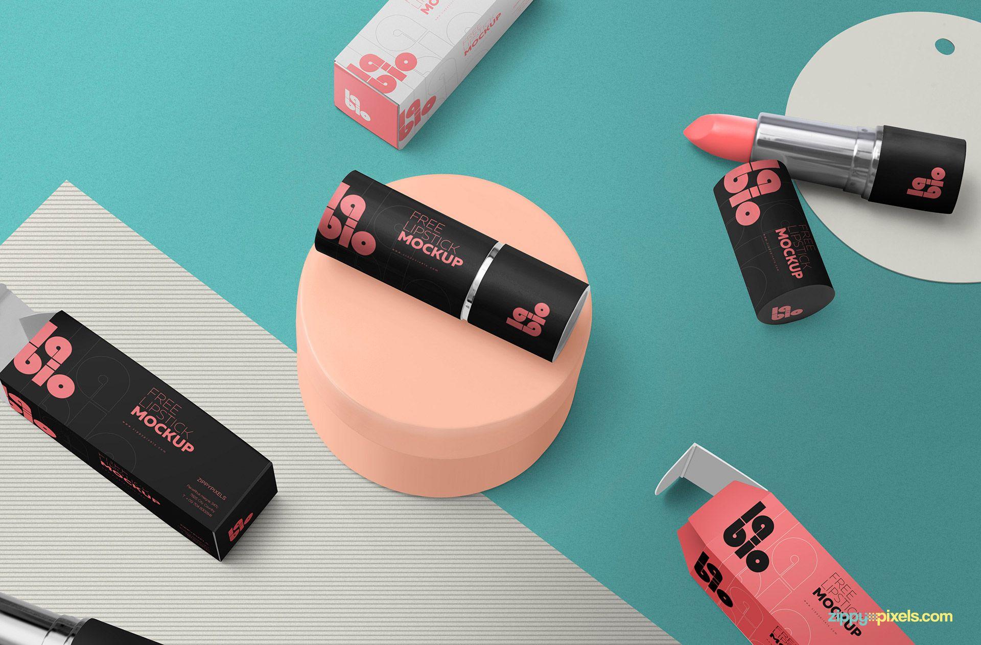 Download Free Matte Lipstick Mockup | Mockup, Lipstick, Lipstick box