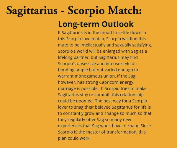 Scorpio and sagittarius in love