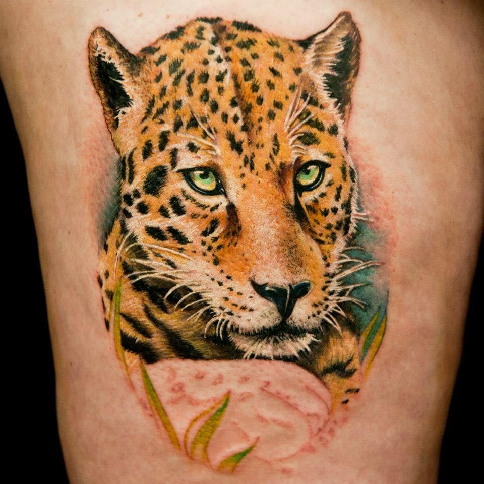 Tattoo Done By Tatu Baby Leopard Tattoos Cheetah Print Tattoos